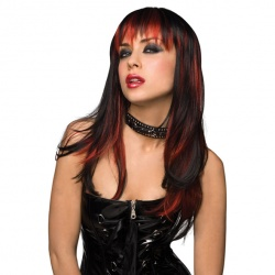 Courtney Wig - Black with Burnt Red