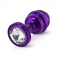 Diogol - Ano Butt Plug Ribbed Purple 25 mm